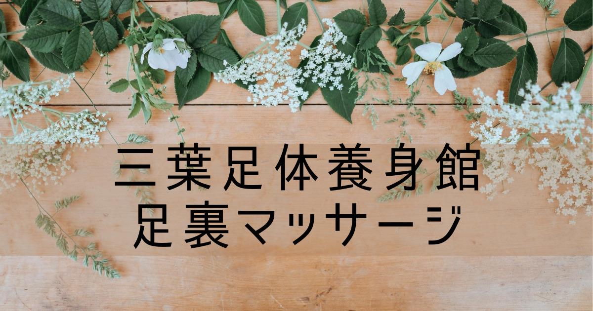 台湾旅行記⑥ 【三葉足体養身館】足裏マッサージ 日本語OK