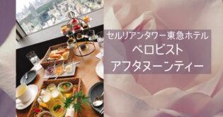セルリアンタワー東急ホテル【ベロビストのアフタヌーンティー】
